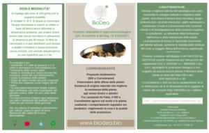 etichetta cornoletame BioDea